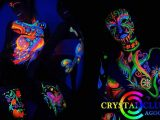 Neon Body Paint Glow Party Crystal Club